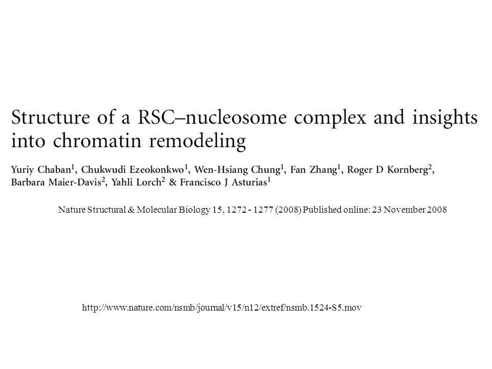 Nature Structural & Molecular Biology 15, 1272 - 1277 (2008) Published online: 23 November 2008