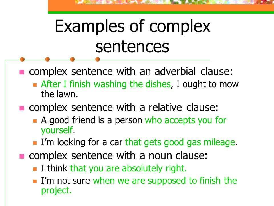 Compound Sentences Examples