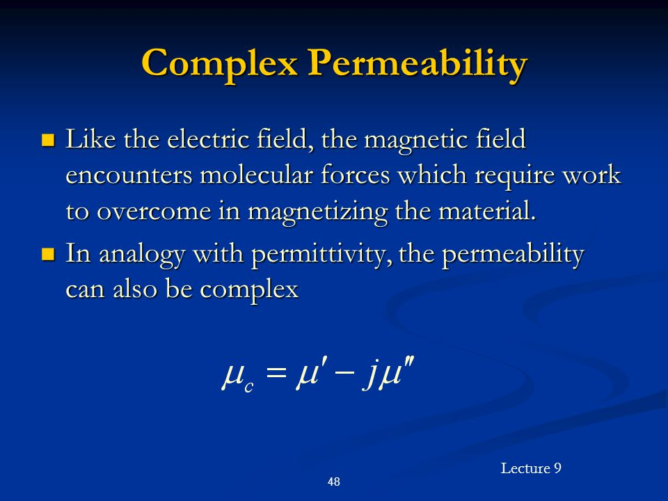 Complex Permeability