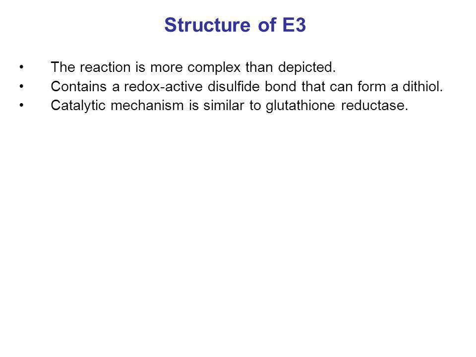 Structure of E3 The reaction is more complex than depicted.