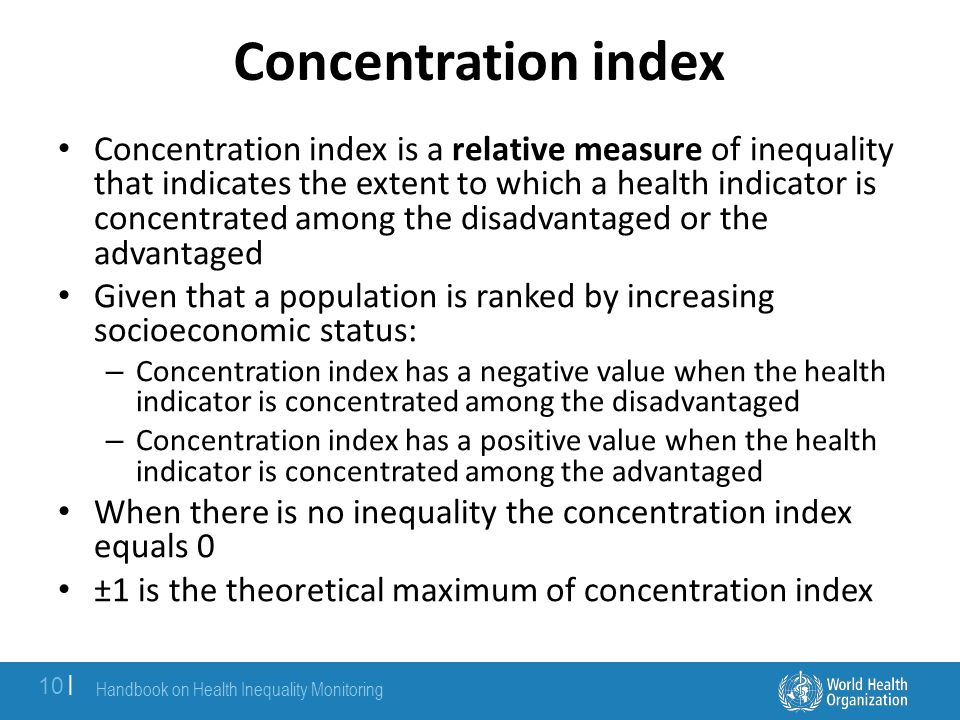 Concentration index