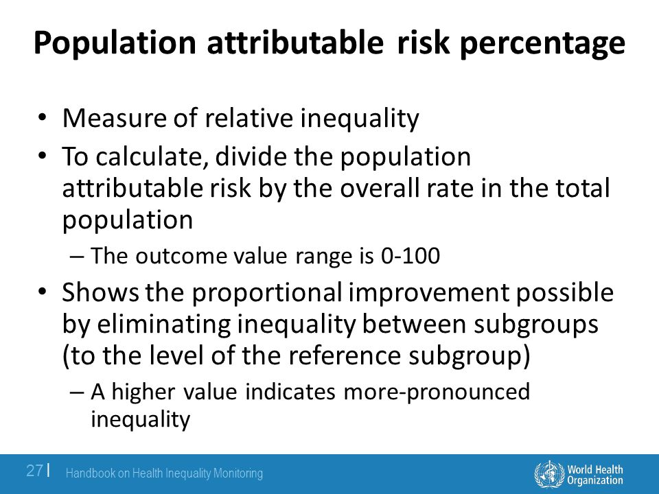 Population attributable risk percentage