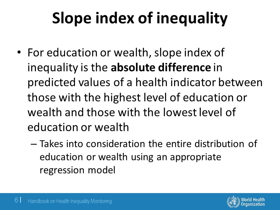 Slope index of inequality