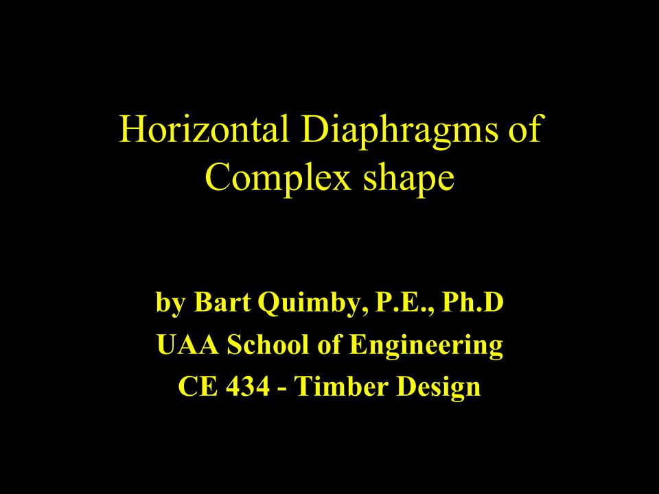 Horizontal Diaphragms of Complex shape