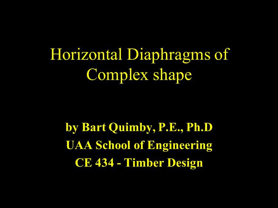 Horizontal Diaphragms of Complex shape