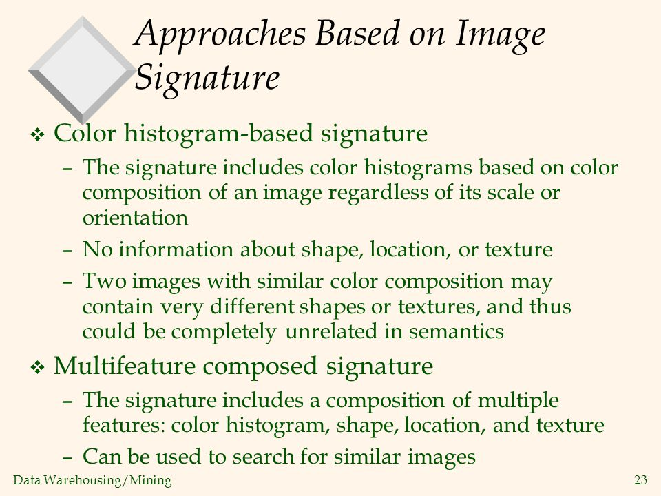 Approaches Based on Image Signature