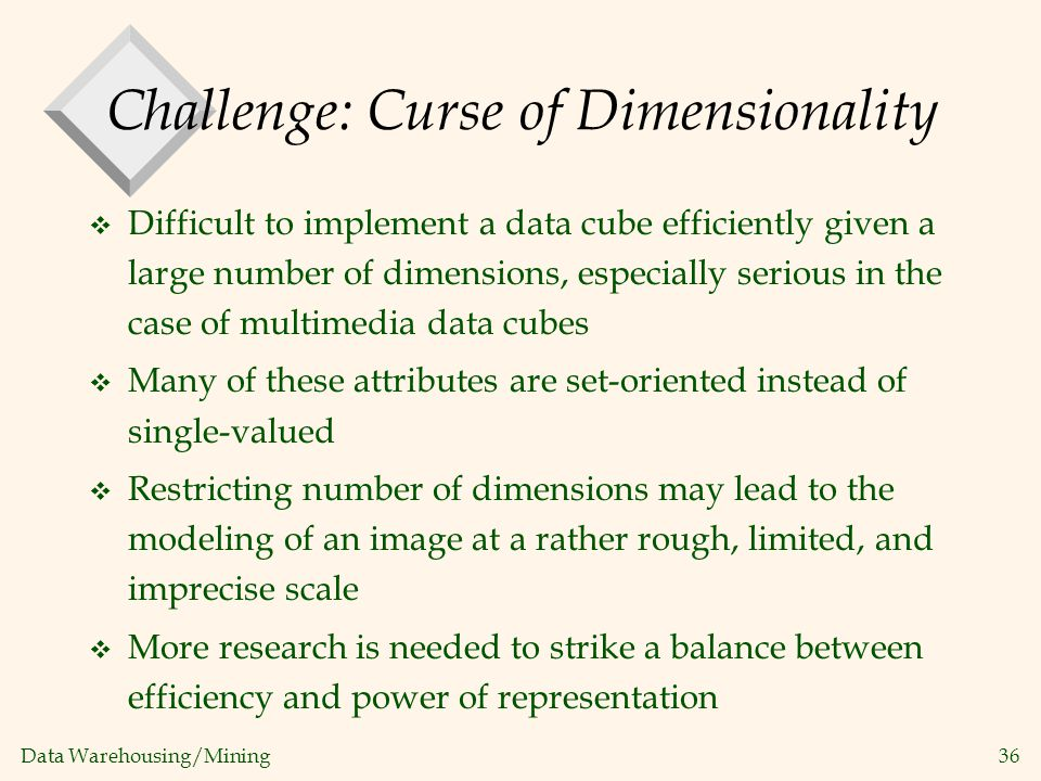 Challenge: Curse of Dimensionality