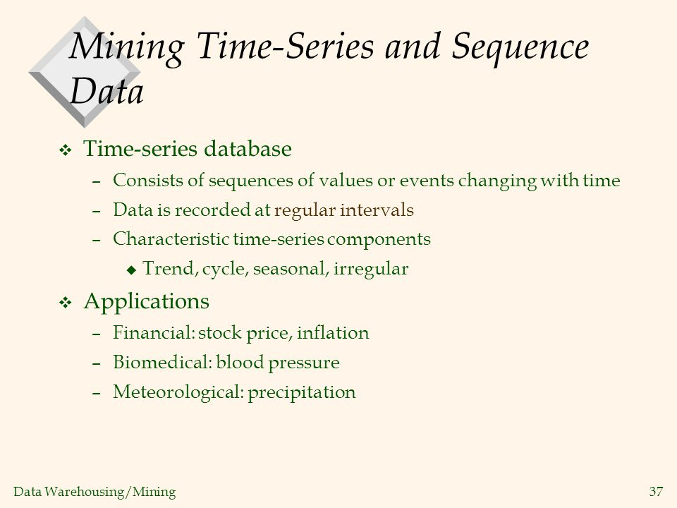 Mining Time-Series and Sequence Data