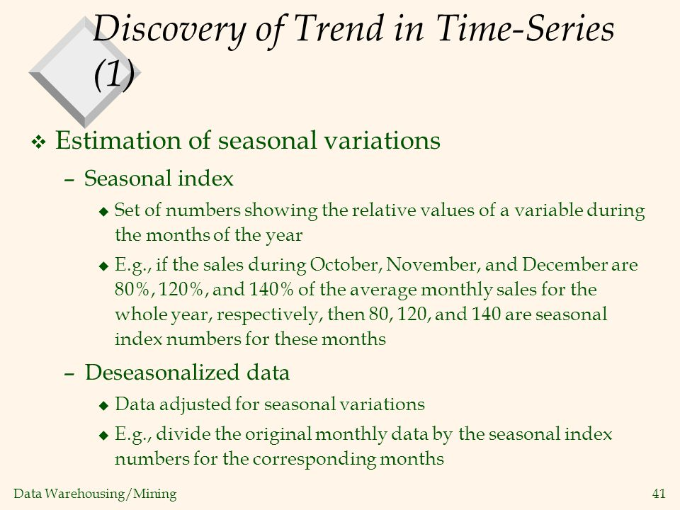 Discovery of Trend in Time-Series (1)