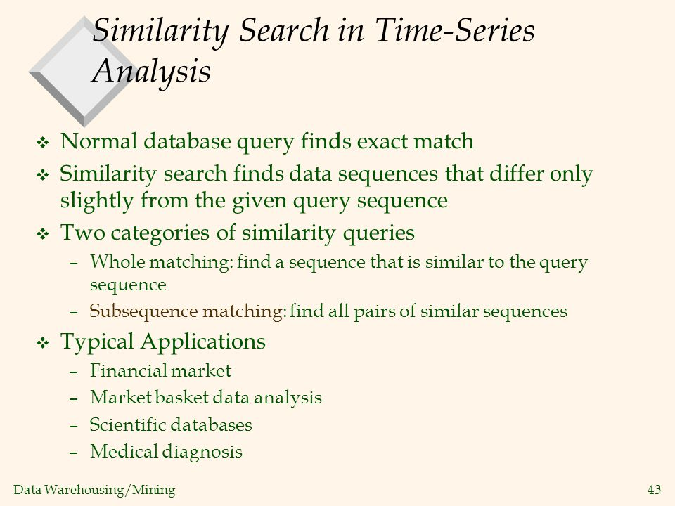 Similarity Search in Time-Series Analysis