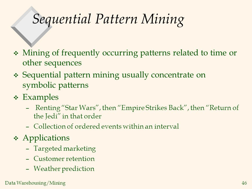 Sequential Pattern Mining
