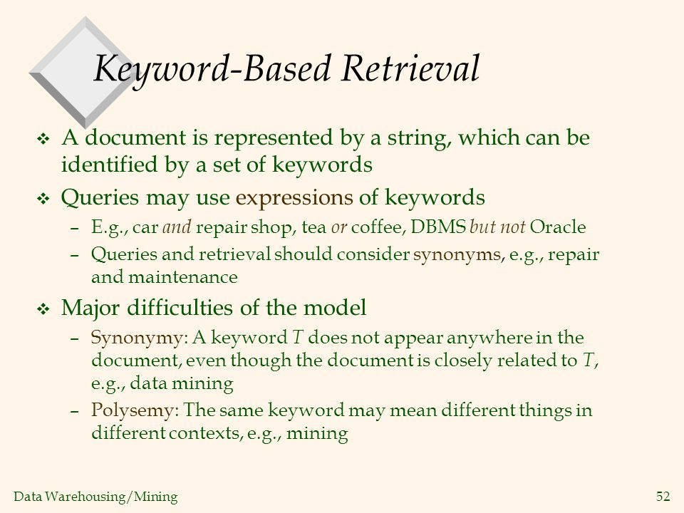 Keyword-Based Retrieval
