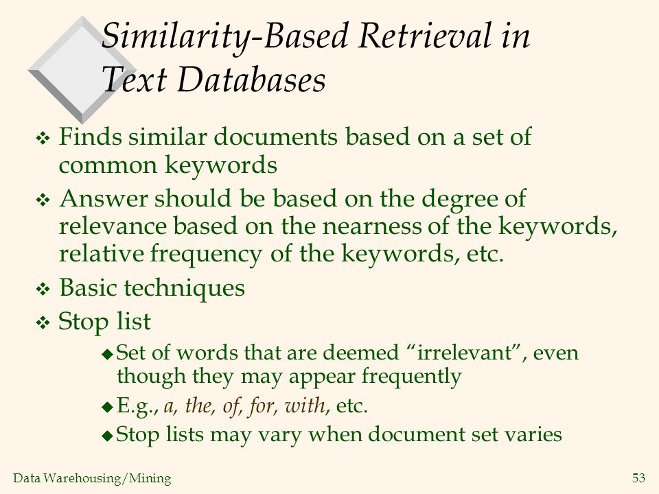 Similarity-Based Retrieval in Text Databases