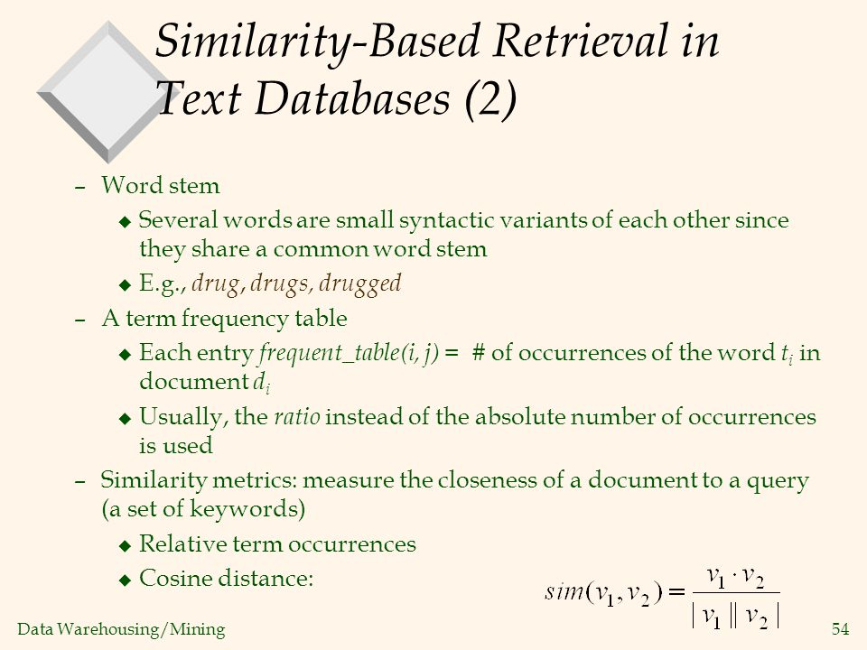 Similarity-Based Retrieval in Text Databases (2)