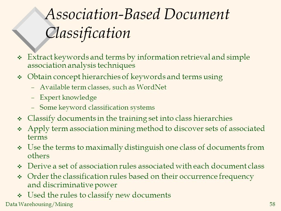 Association-Based Document Classification