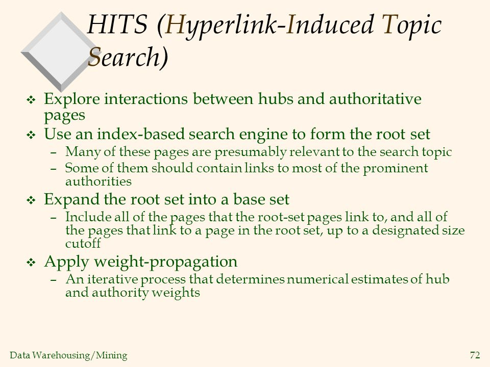 HITS (Hyperlink-Induced Topic Search)