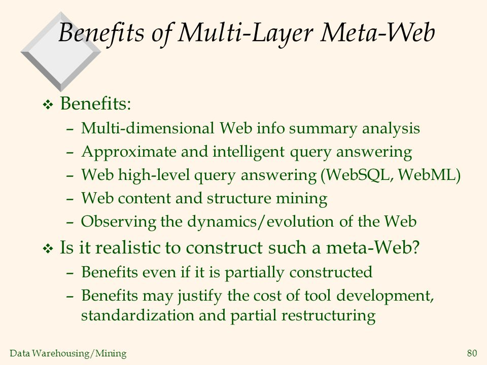 Benefits of Multi-Layer Meta-Web