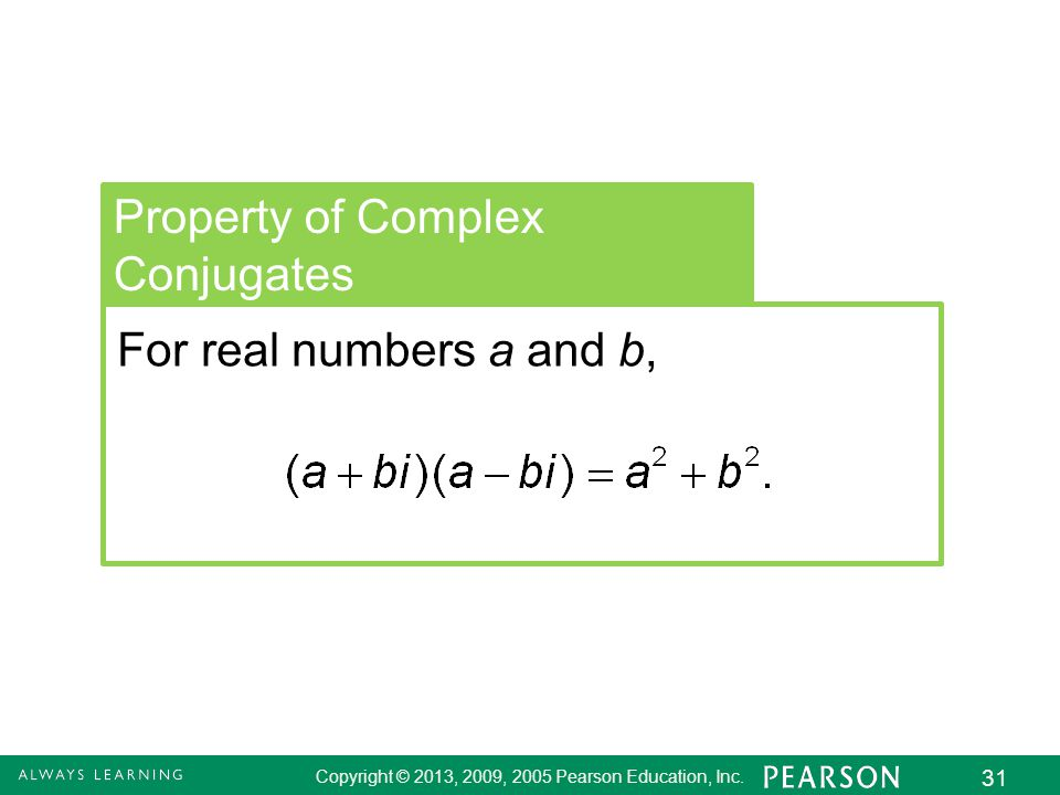 Property of Complex Conjugates