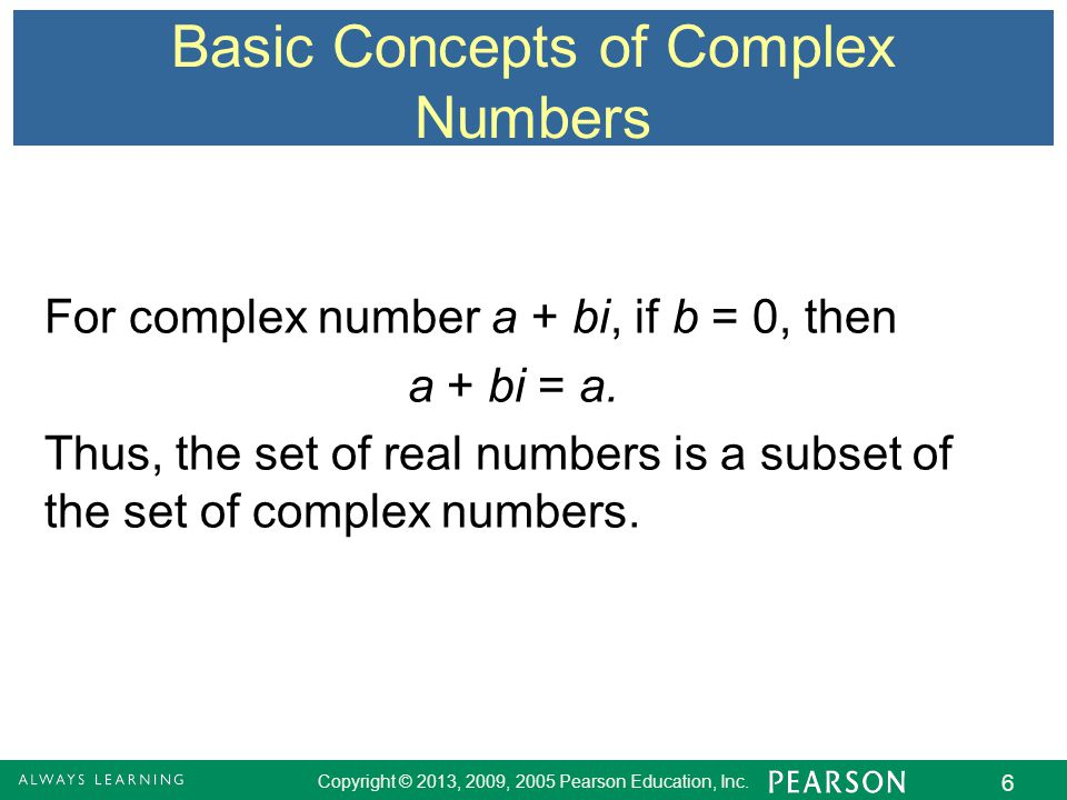 concept of imaginary numbers Concept of imaginary numbers wait just a minute here in order to access these resources, you will need to sign in or register for the website (takes literally 1 minute) and contribute 10 documents to the coursenotes library.