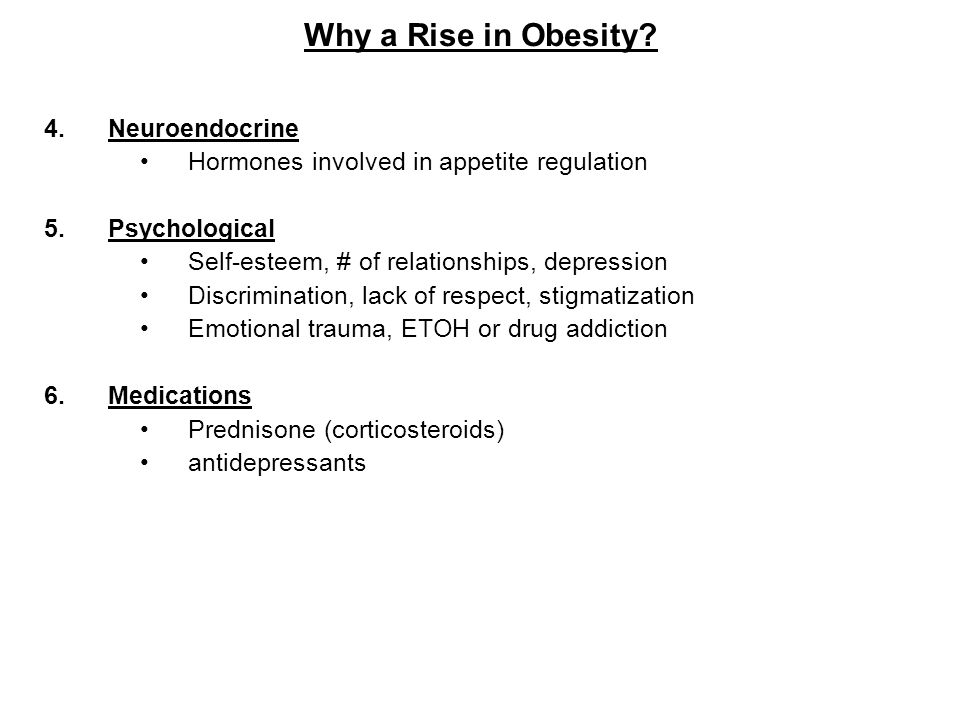 Why a Rise in Obesity Neuroendocrine