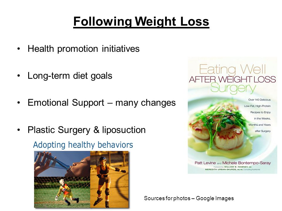 Following Weight Loss Health promotion initiatives