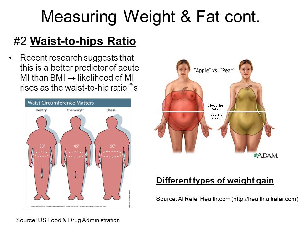 Measuring Weight & Fat cont.