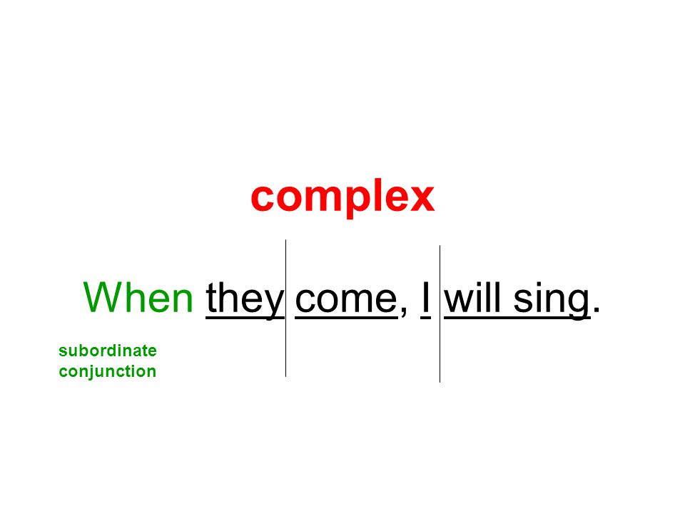 complex When they come, I will sing.