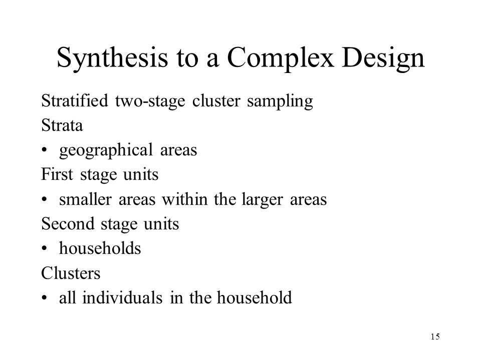 Synthesis to a Complex Design