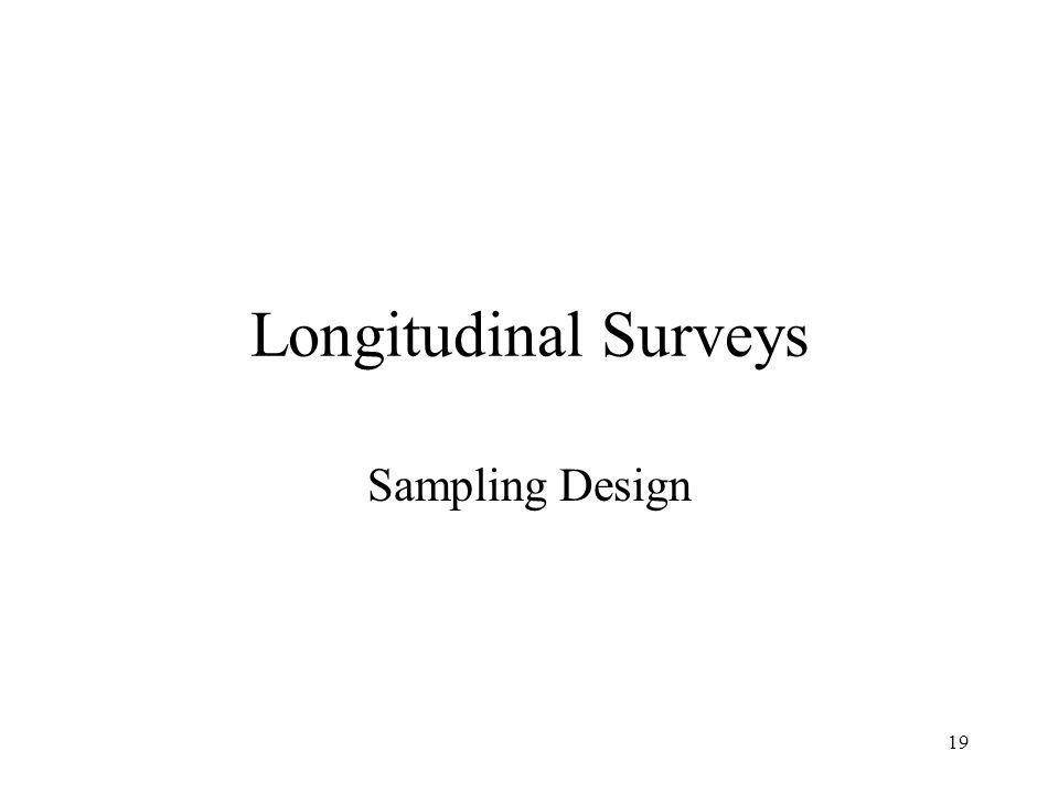 Longitudinal Surveys Sampling Design