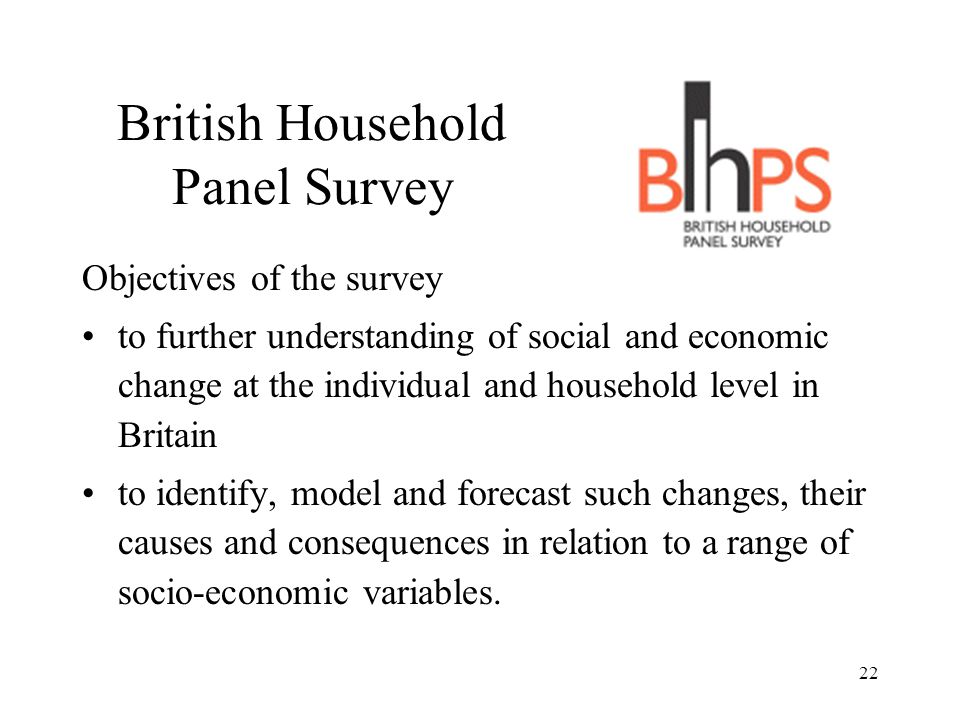 British Household Panel Survey