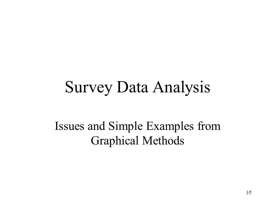 Issues and Simple Examples from Graphical Methods