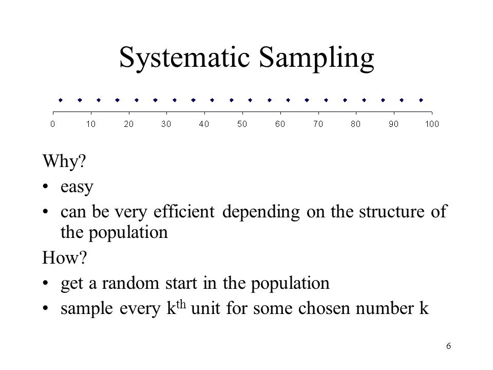 Systematic Sampling Why easy
