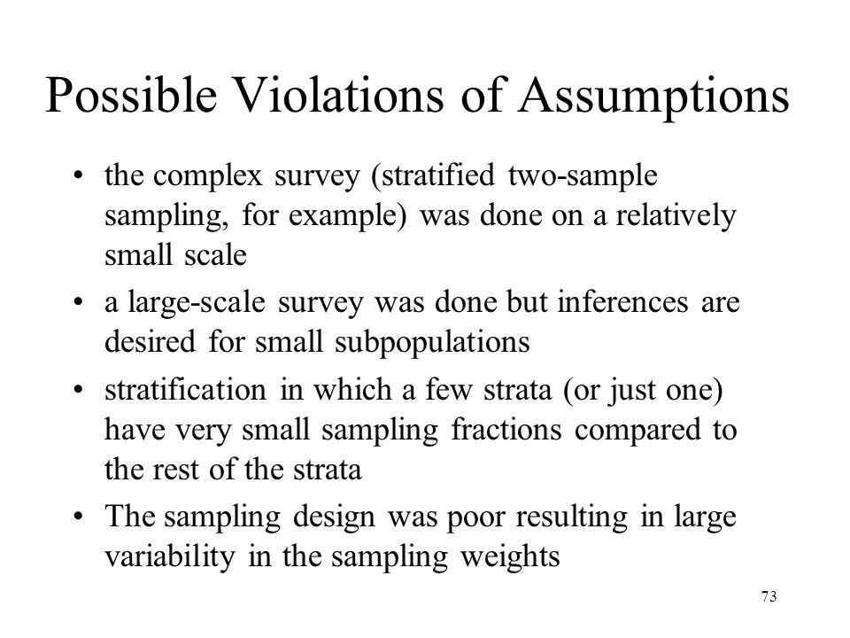 Possible Violations of Assumptions