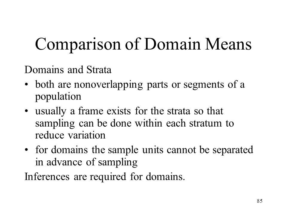 Comparison of Domain Means