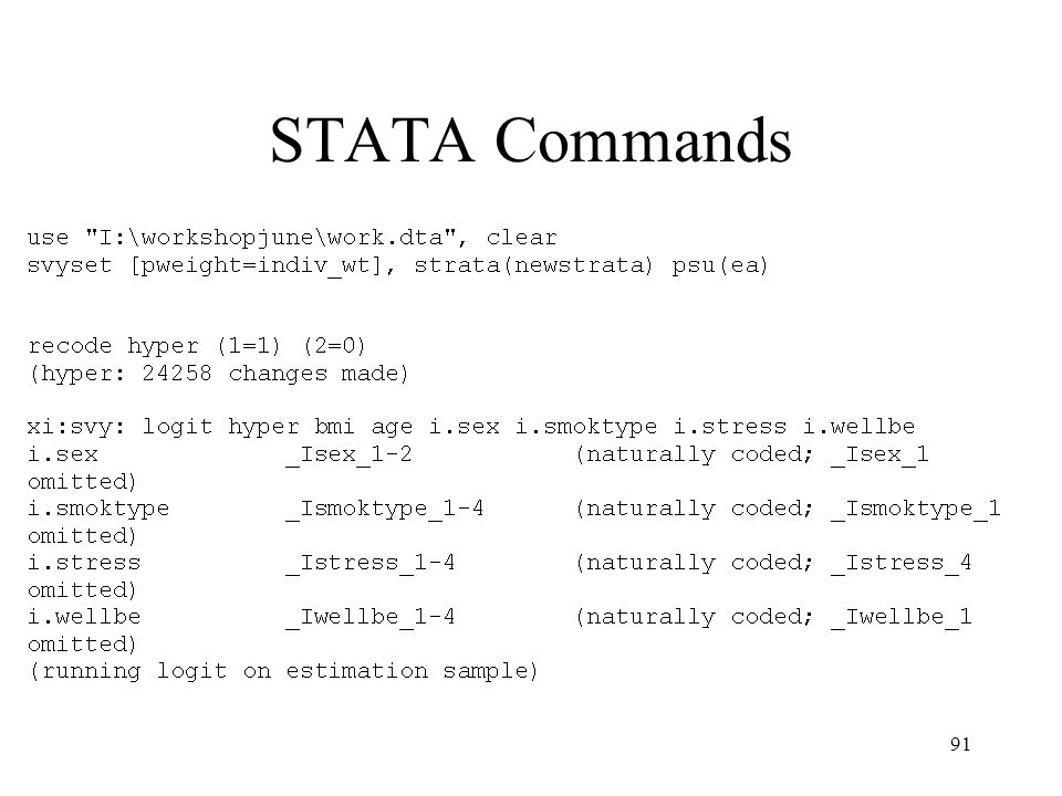 STATA Commands