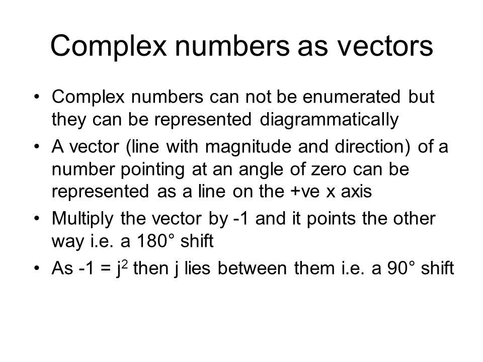 Complex numbers as vectors
