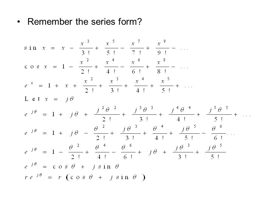 Remember the series form