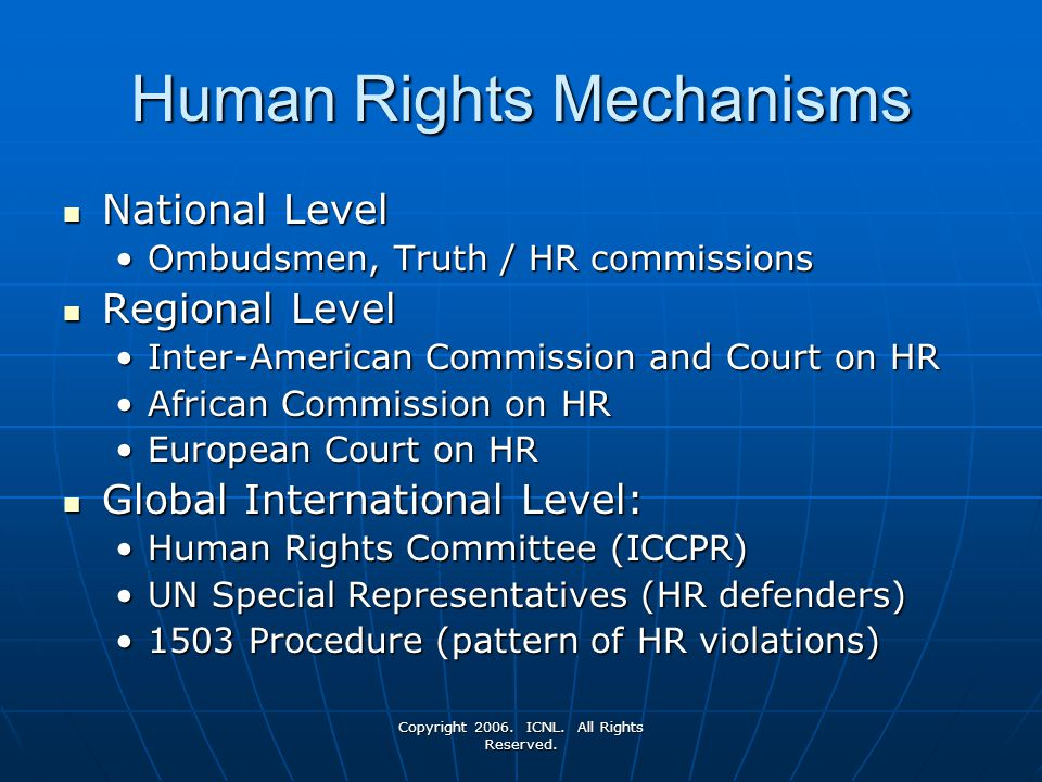 Human Rights Mechanisms