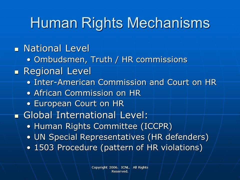Human Rights Mechanisms