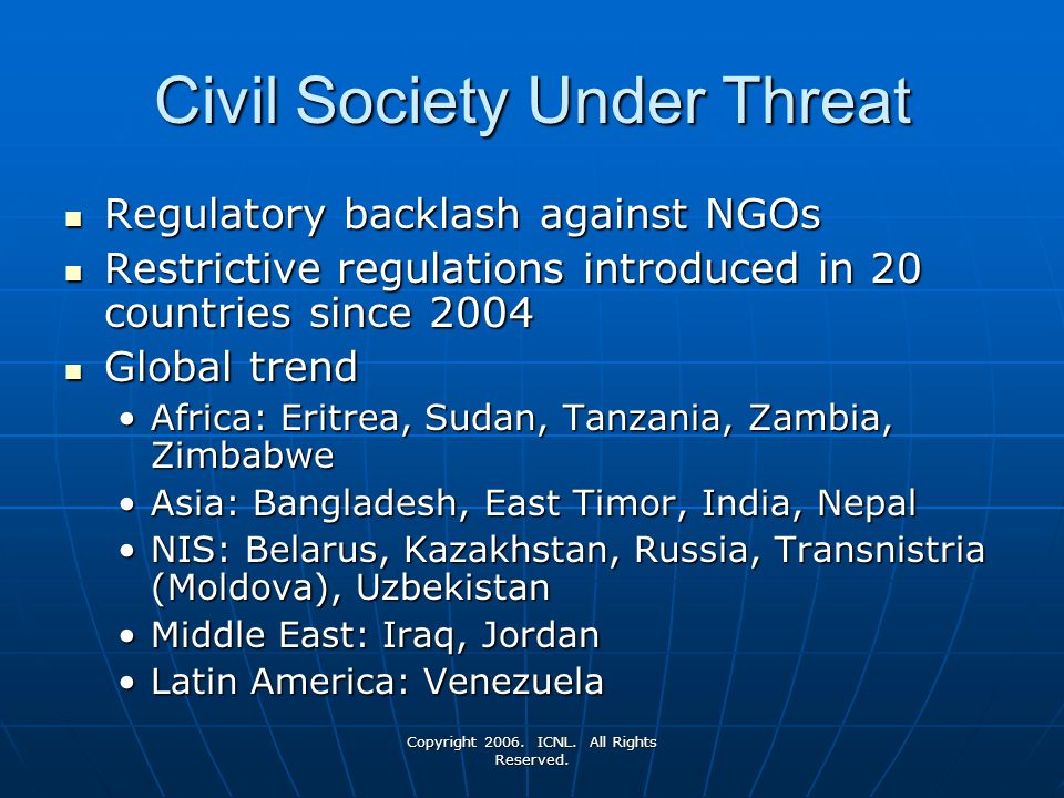 Civil Society Under Threat