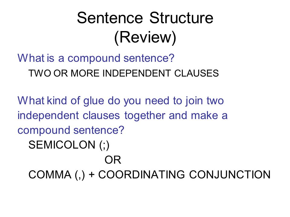 Quiz on Sentence Types