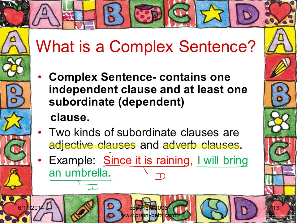 What is a Complex Sentence