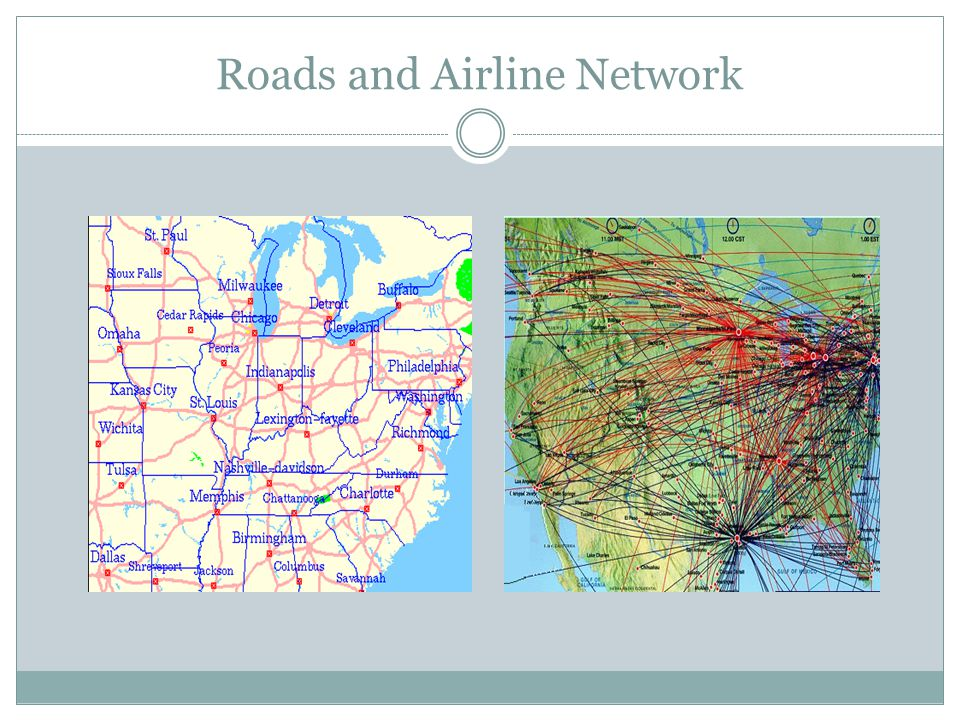 Roads and Airline Network