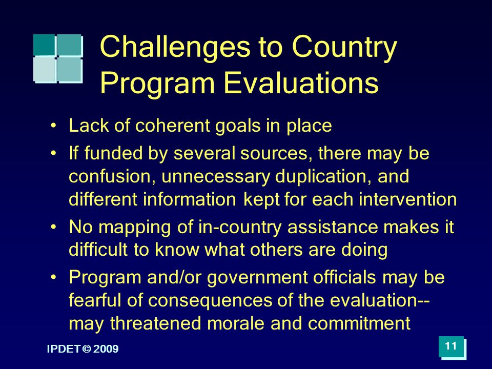 Challenges to Country Program Evaluations