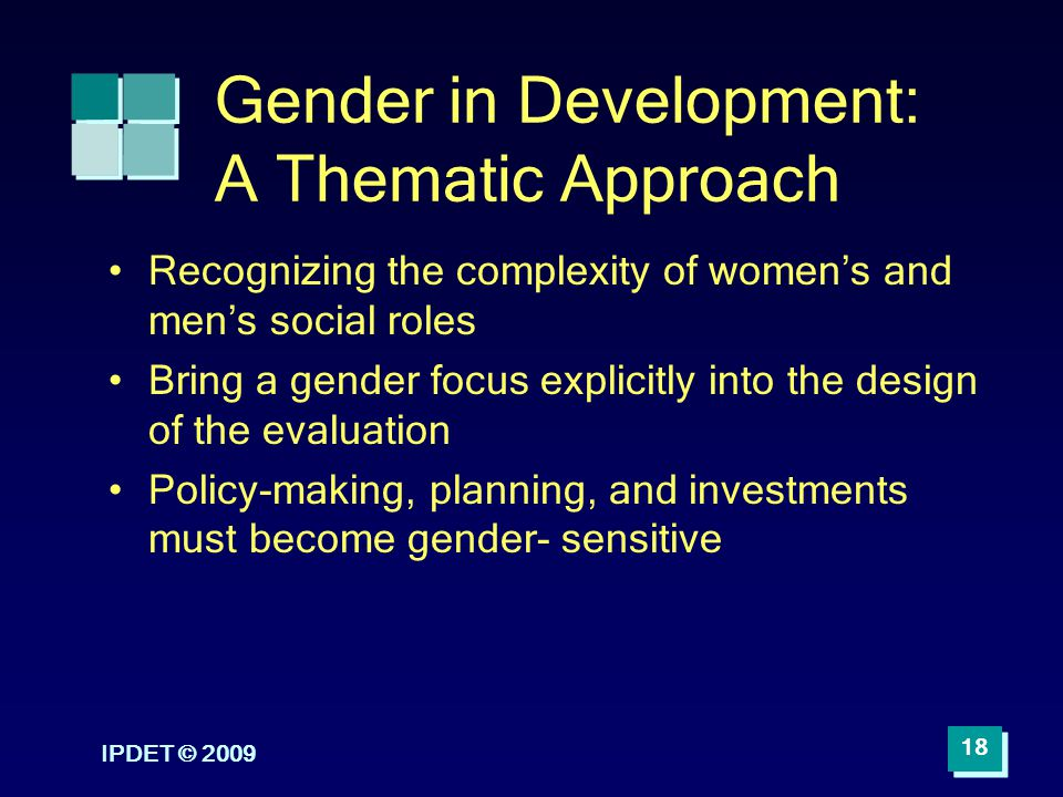 Gender in Development: A Thematic Approach