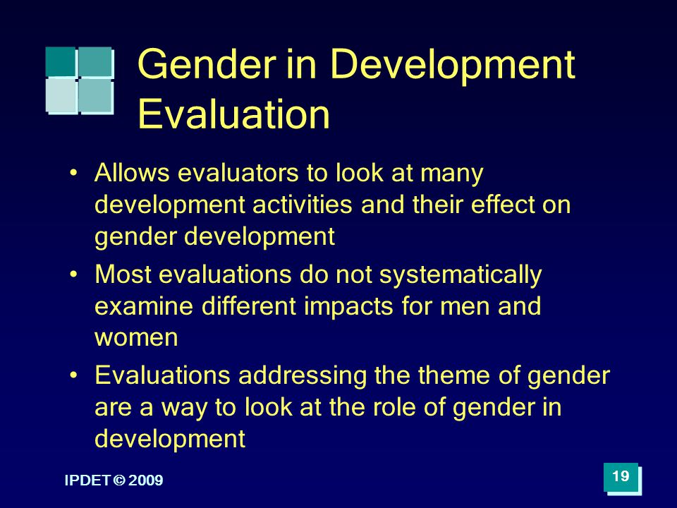 Gender in Development Evaluation