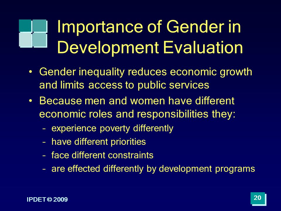 Importance of Gender in Development Evaluation