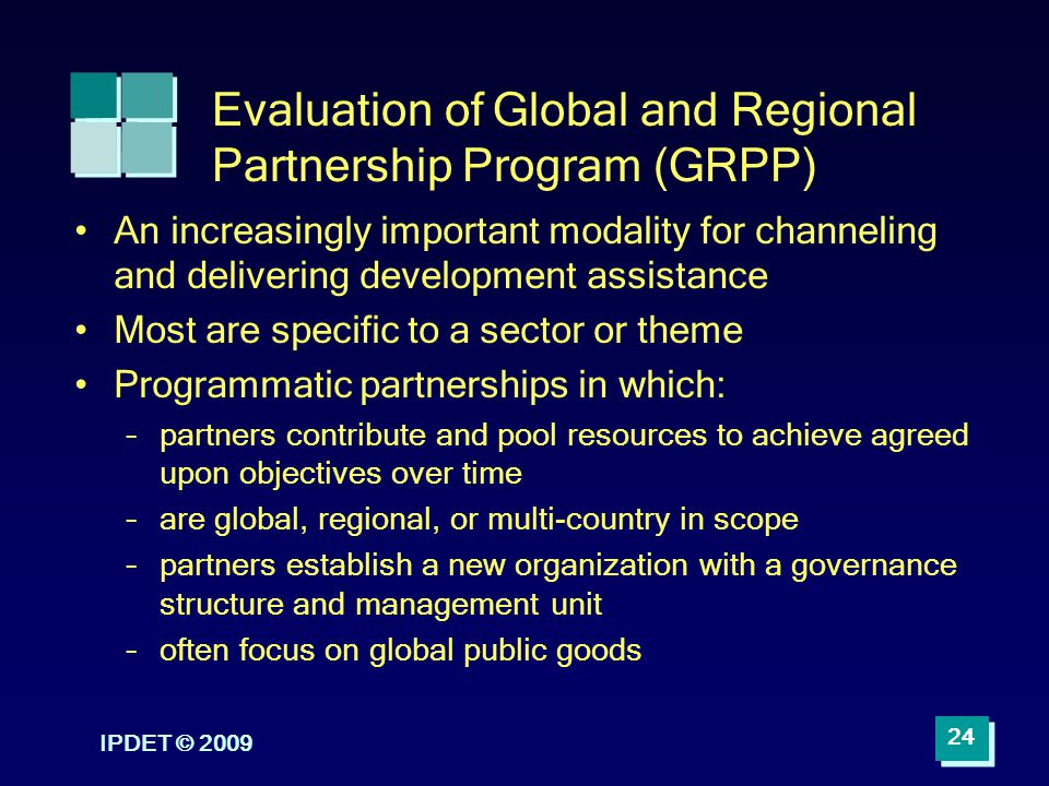 Evaluation of Global and Regional Partnership Program (GRPP)