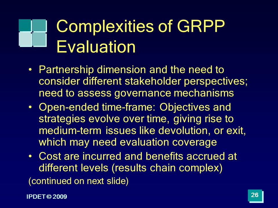 Complexities of GRPP Evaluation
