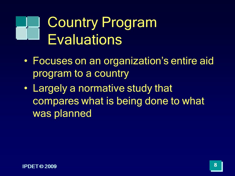 Country Program Evaluations